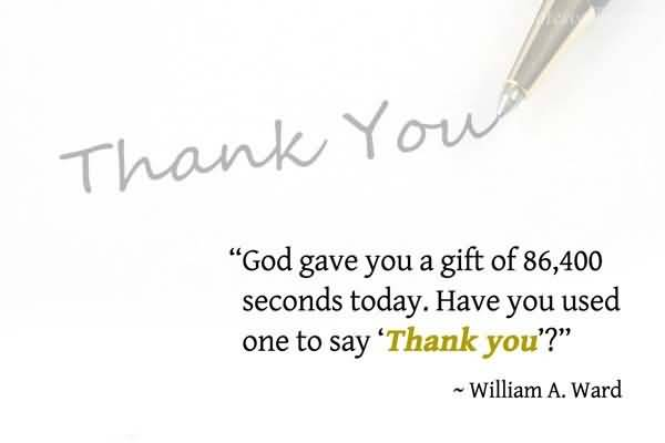 god-gave-you-a-gift-of-86400-seconds-today
