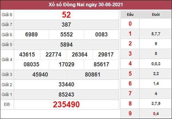 Soi cầu KQXS Đồng Nai 7/7/2021 thứ 4 cùng chuyên gia